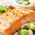 Broiled Salmon on Special Yogurt Sauce