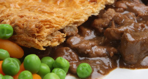 Steak Ale Pies on blue Cheese Crust